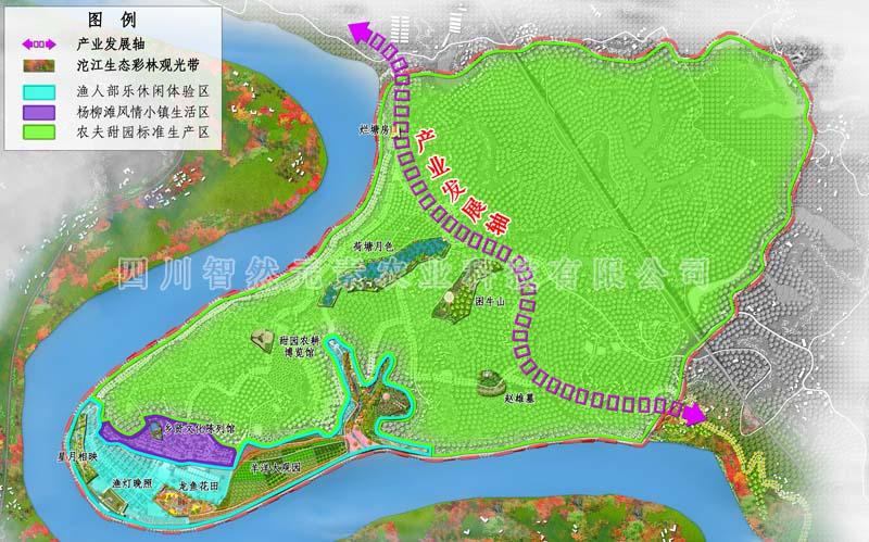 杨柳滩村乡村旅游规划功能布局图