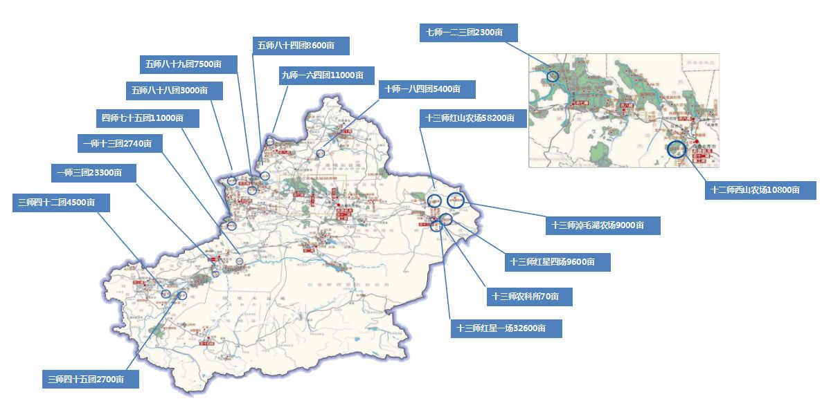 云南新疆兵团30万亩农业灌溉自动化系统项目