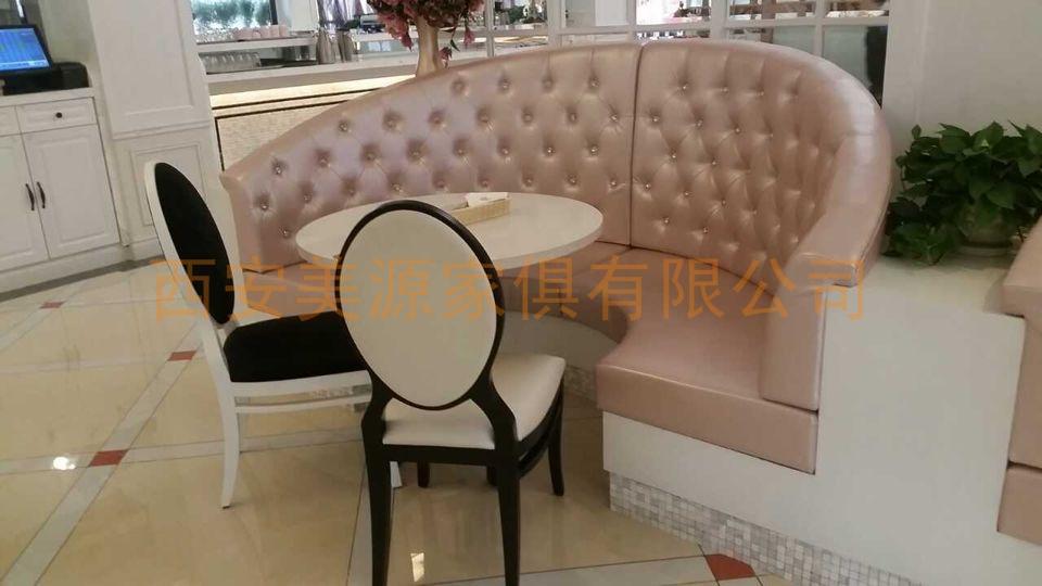 圆弧卡座茶艺沙发