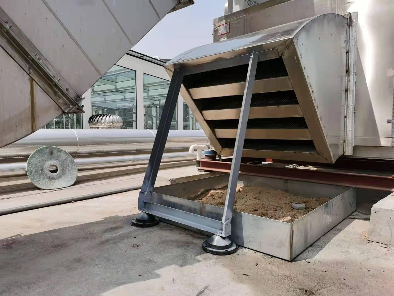 丽彩天祐酒店屋面排风机消音器减震支架安装