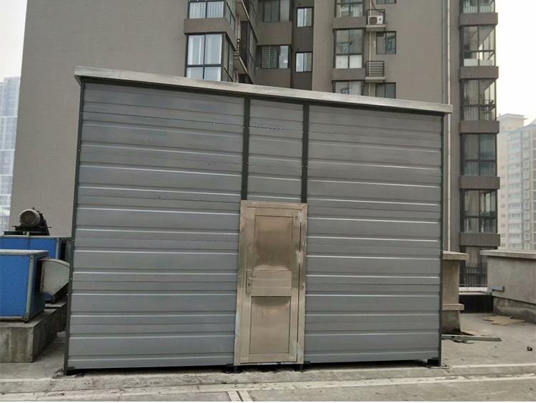 陕西省农业银行省行屋面排风机隔音房噪音治理