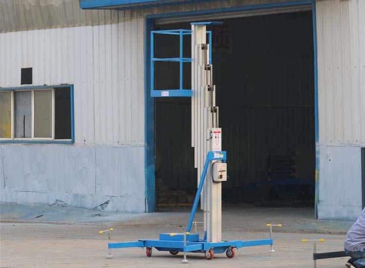 单柱铝合金升降机工程案例