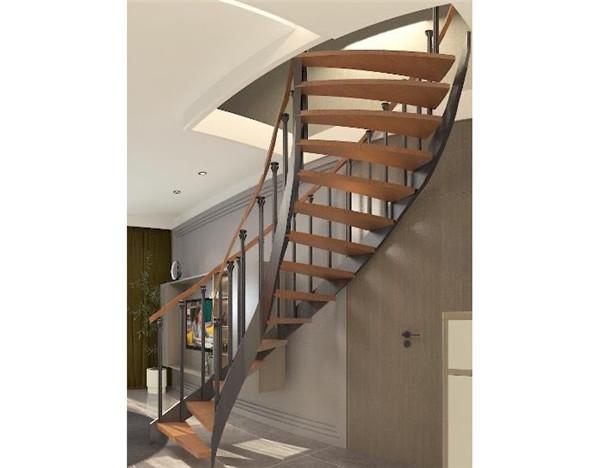 實木旋轉樓梯