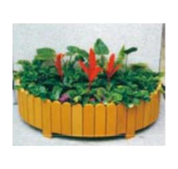 圆形木质花箱