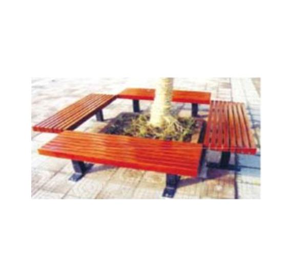 长椅式木质花箱