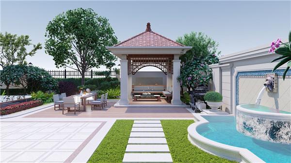 东嵘亿盛园林设计的庭院景观效果图