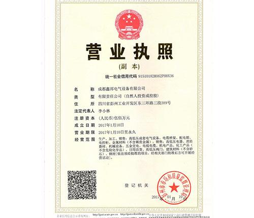 成都鑫邦电气设备有限公司营业执照