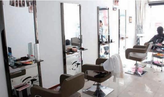 河南中央热水设备应用于美发店