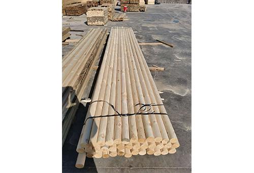 圆柱形木材