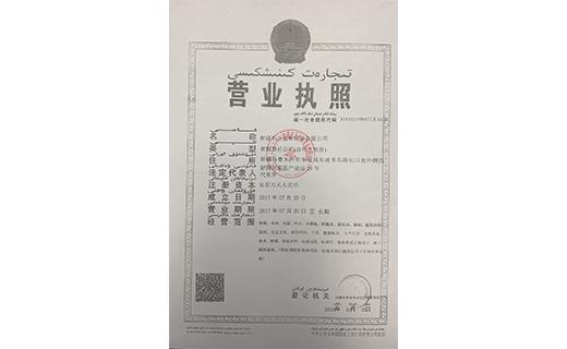 新疆东升远和贸易有限公司营业执照