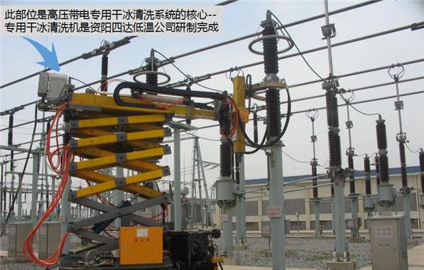 變電站高壓帶電干冰清洗機項目案例