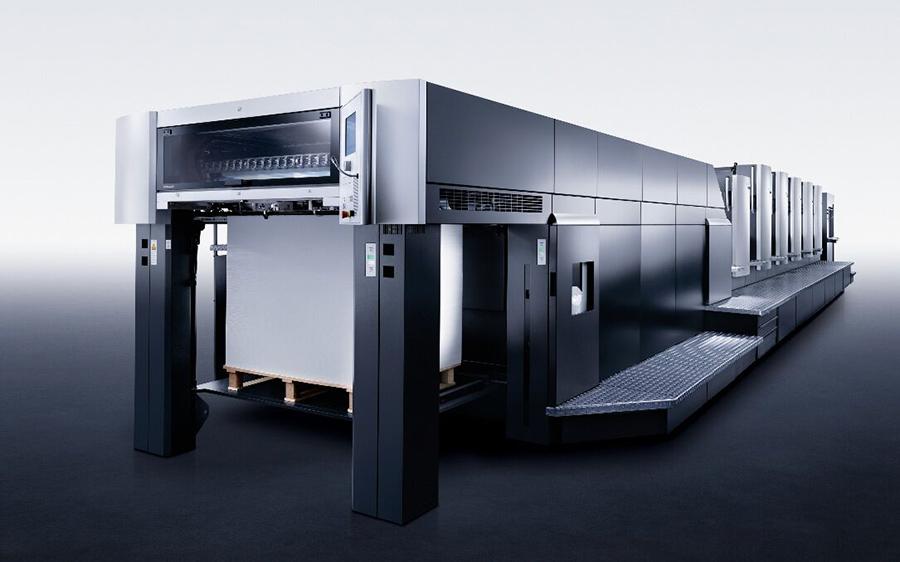 海德堡六色对开印刷机
