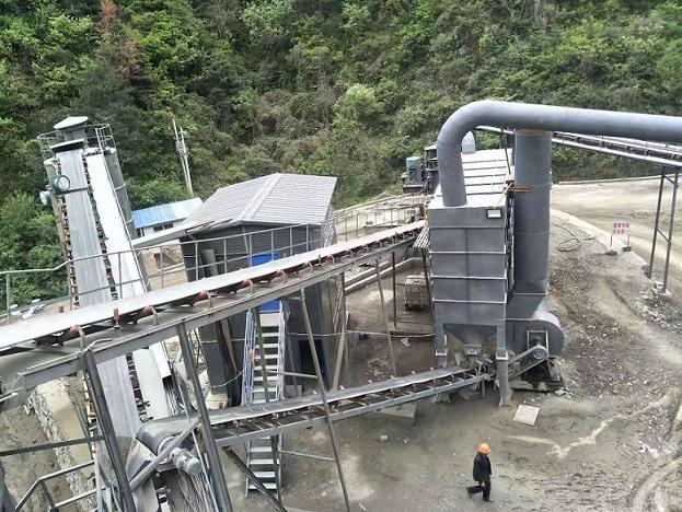 陕西电动滚筒砂石厂安装案例