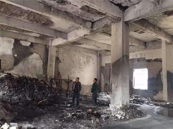 陕西省西安市东郊某库房火灾后检测鉴定