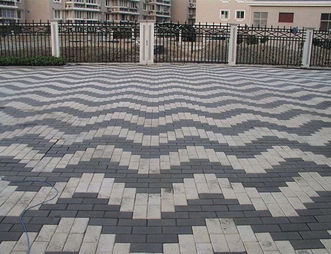 陕西广场砖施工案例