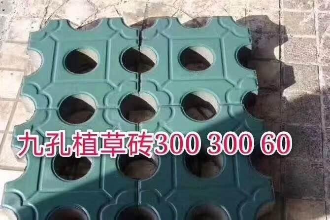 陕西九孔植草砖施工