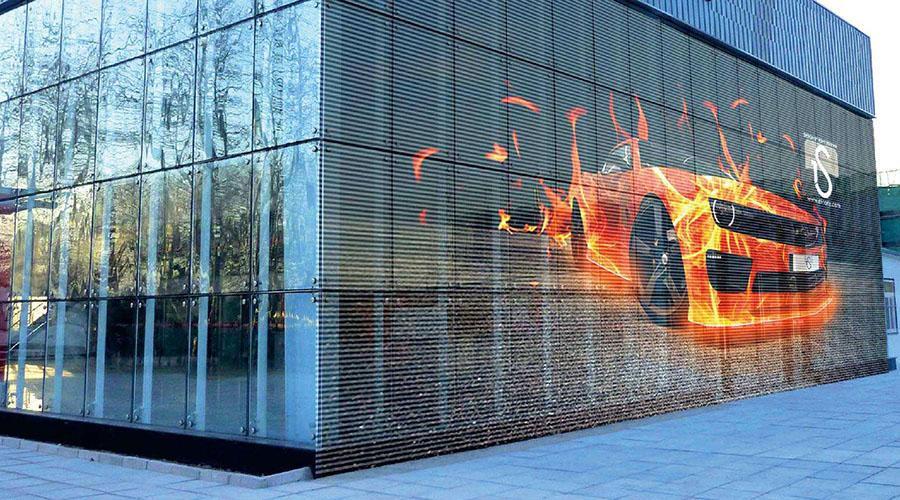 成都玻璃幕墙LED显示屏解决方案:需考虑六大因素