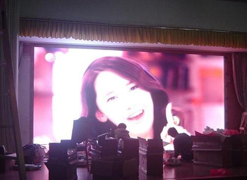 西藏酒店室内P6全彩显示屏
