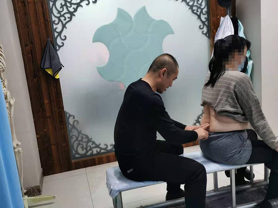 杨女士,30岁,腰部酸困疼痛