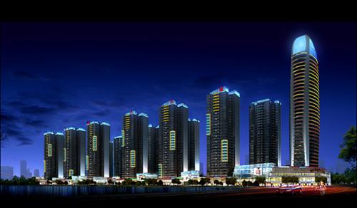 昂森照明中标攀枝花普达阳光国际康养城二批次灯光亮化工程