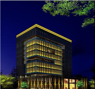 雅安三九药业办公大楼亮化