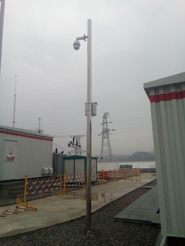 山西长治发电厂监控杆