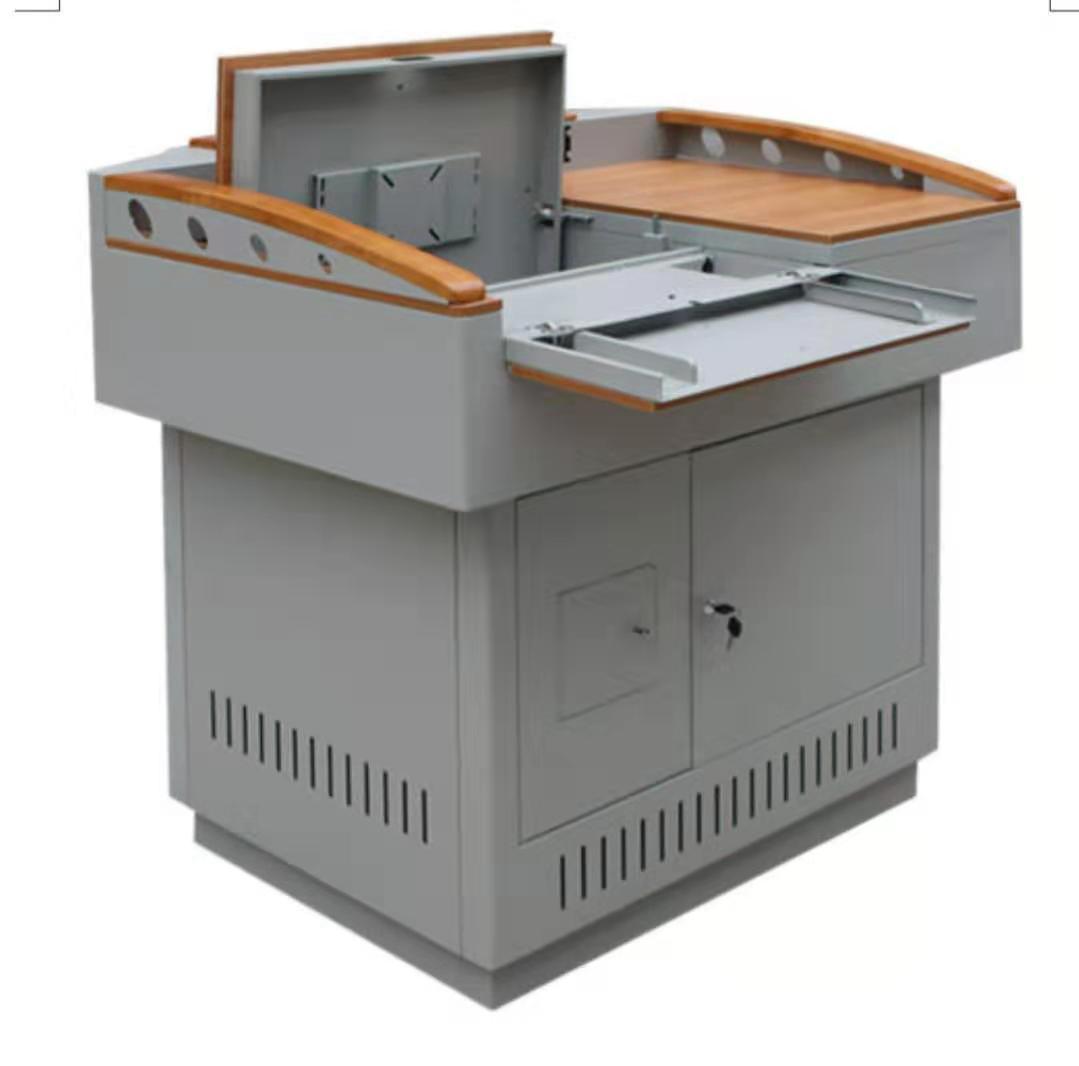 多媒体讲台钢制电教桌