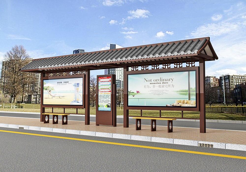 四川公交站台在设计时如何控制成本?材质的选择是一个因素