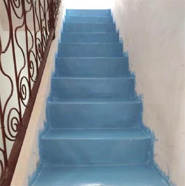 楼道刷涂地坪漆的案例