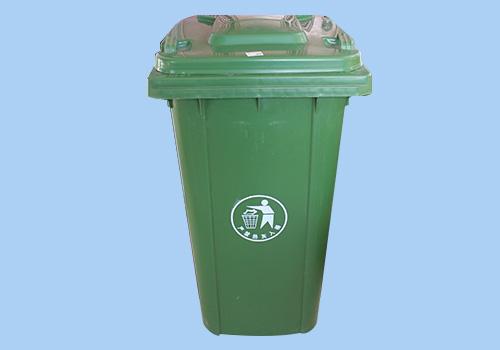 哈尔滨240升大号塑料加厚带盖户外小区物业垃圾桶