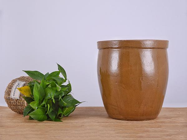 四川发酵缸-土陶黄釉