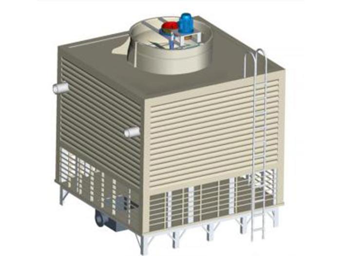 低噪音横流式方形玻璃钢冷却塔