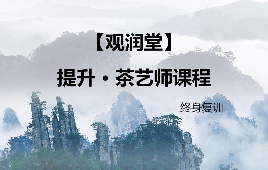 【观润堂】提升 · 茶艺师课程