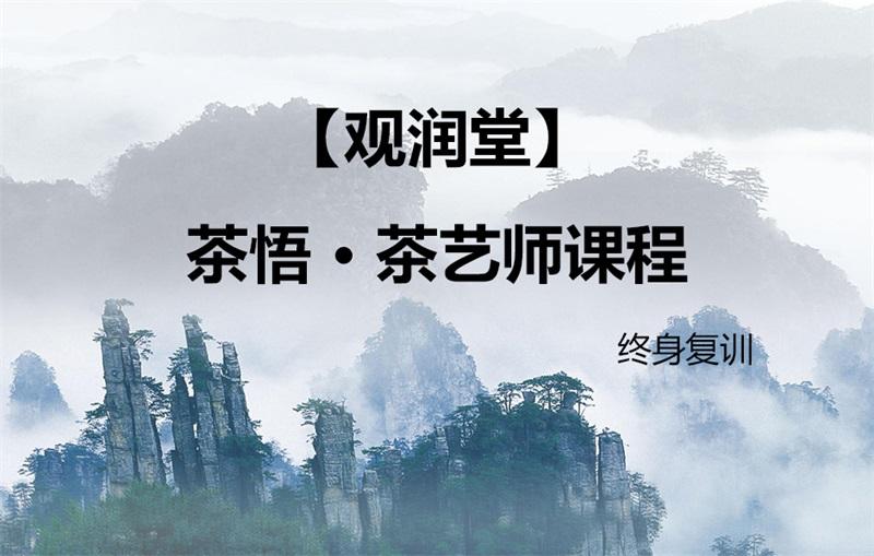 【观润堂】茶悟 · 茶艺师课程