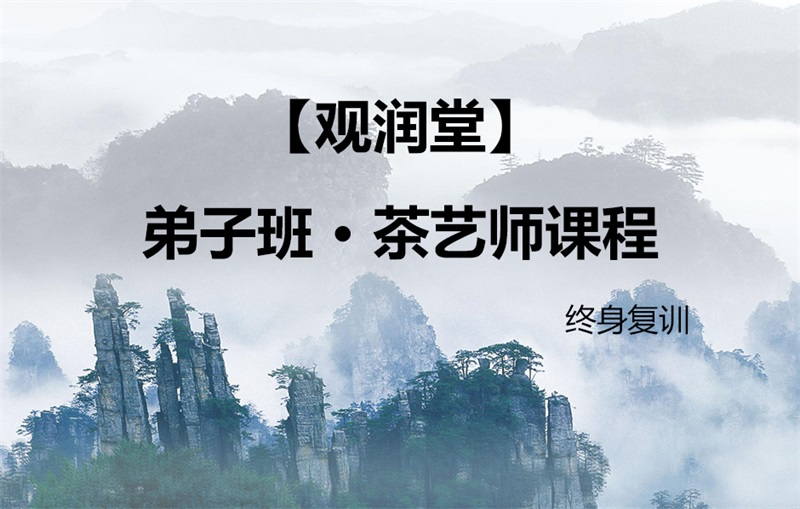 【观润堂】弟子班 · 茶艺师课程