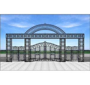栏杆通透性大门