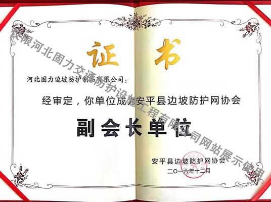 安平县边坡防护网协会副会长单位
