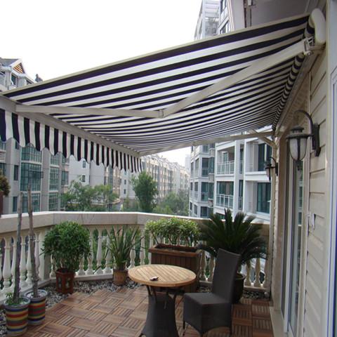 阳台高档加厚骨架伸缩遮阳棚