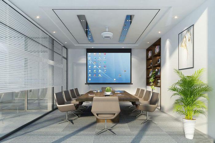 @中小型办公室如何设计让办公空间更宽敞?