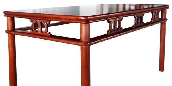 圆包圆卡子花条桌(餐桌) 高800宽1520厚800