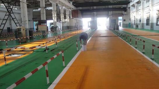鄖陽區榕峰軋鋼廠環氧地坪施工
