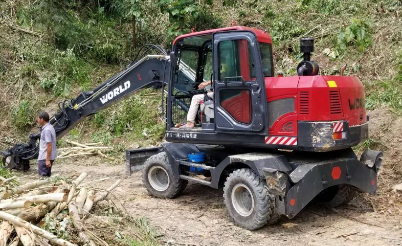 值得托付的创富之选——轮式挖掘机