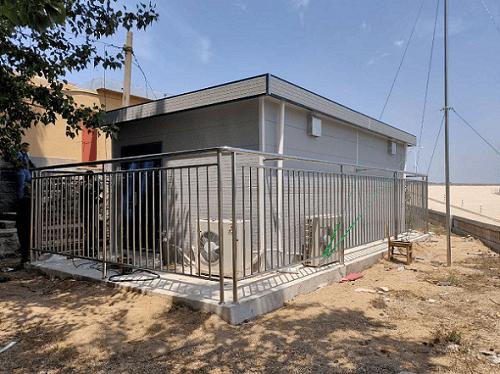 空气监测站房的户外施工记录