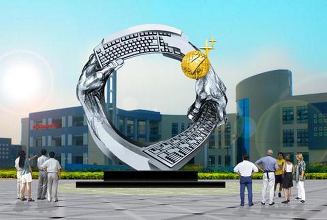 河南不锈钢雕塑是文化的传承也是艺术的传承