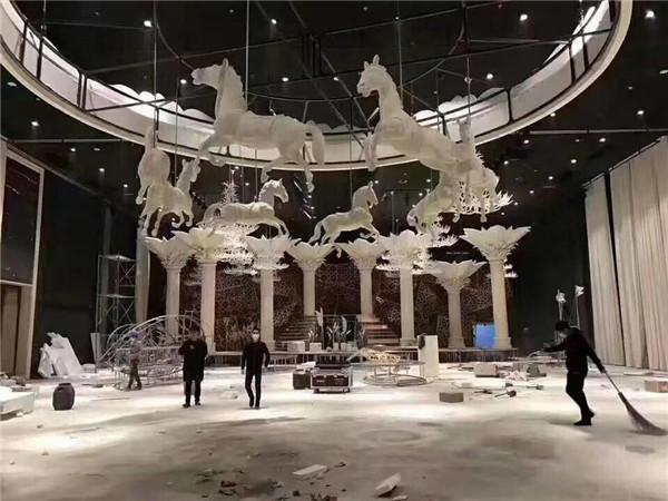 河南雕塑婚庆节日舞台道具制作