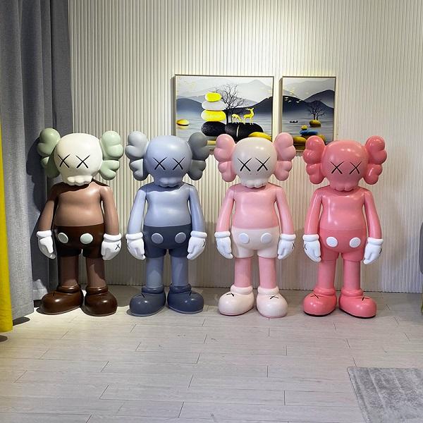 网红kaws卡通芝麻街玻璃钢雕塑摆件