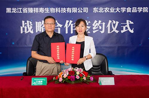 与东北农业大学食品学院战略合作签约仪式