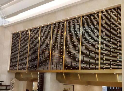 不锈钢屏风的制作过程