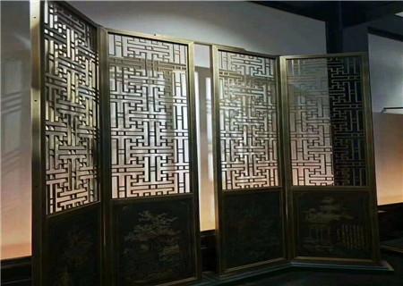 古铜折叠屏风