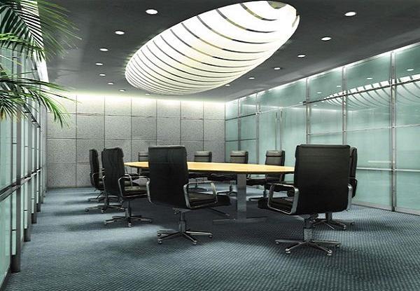 办公会议空间光幕软膜